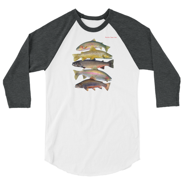Trout Grand Slam 3/4 sleeve raglan shirt