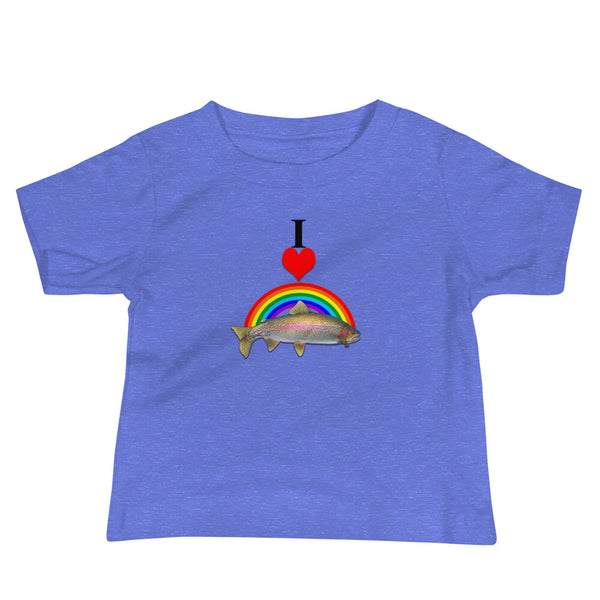 I Heart Rainbow Trout Baby Soft Cotton Tee Shirt
