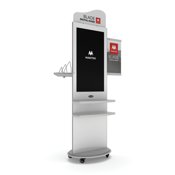 "Makitso Blade 58"" Pro Digital Signage Kiosk with accessories"