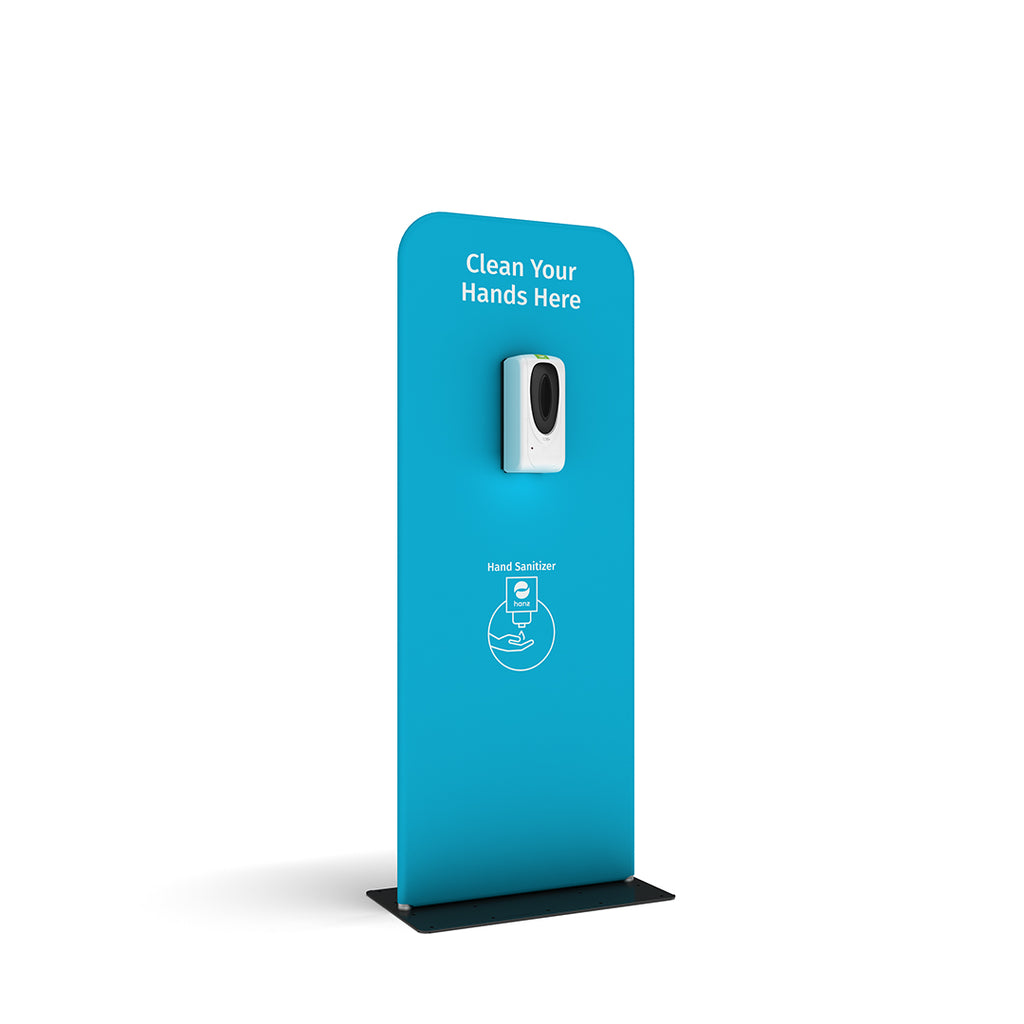 hanz automatic hand sanitizer dispenser with portable stand in blue