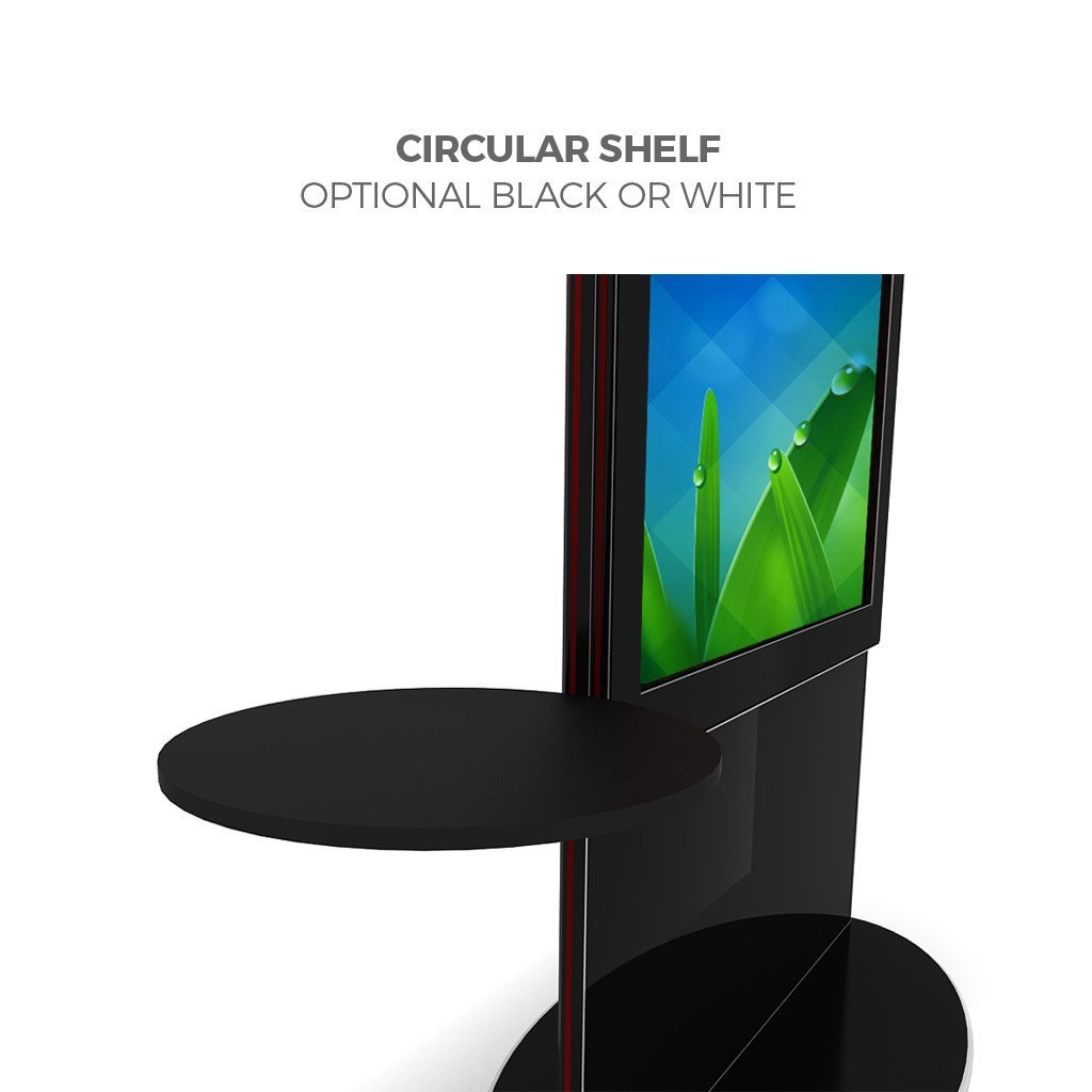 "Makitso Blade 40"" Pro Digital Signage Kiosk with circular shelf"