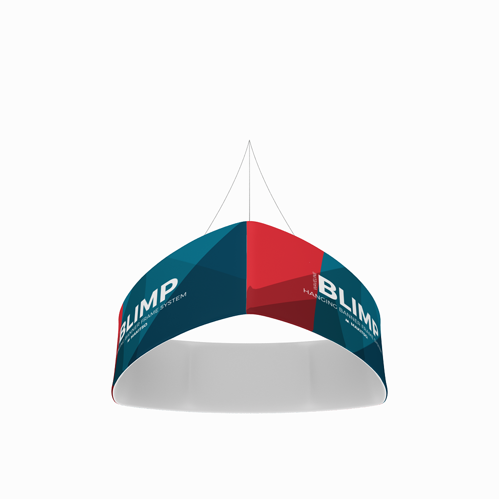 WaveLine Blimp Trio Curved Hanging Banner System