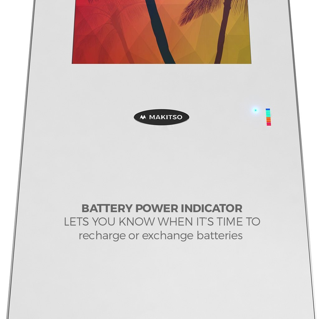"Makitso® Concierge Digital Retail Kiosk Solutions 21.5"" Custom Printed Battery Life Indiicator"