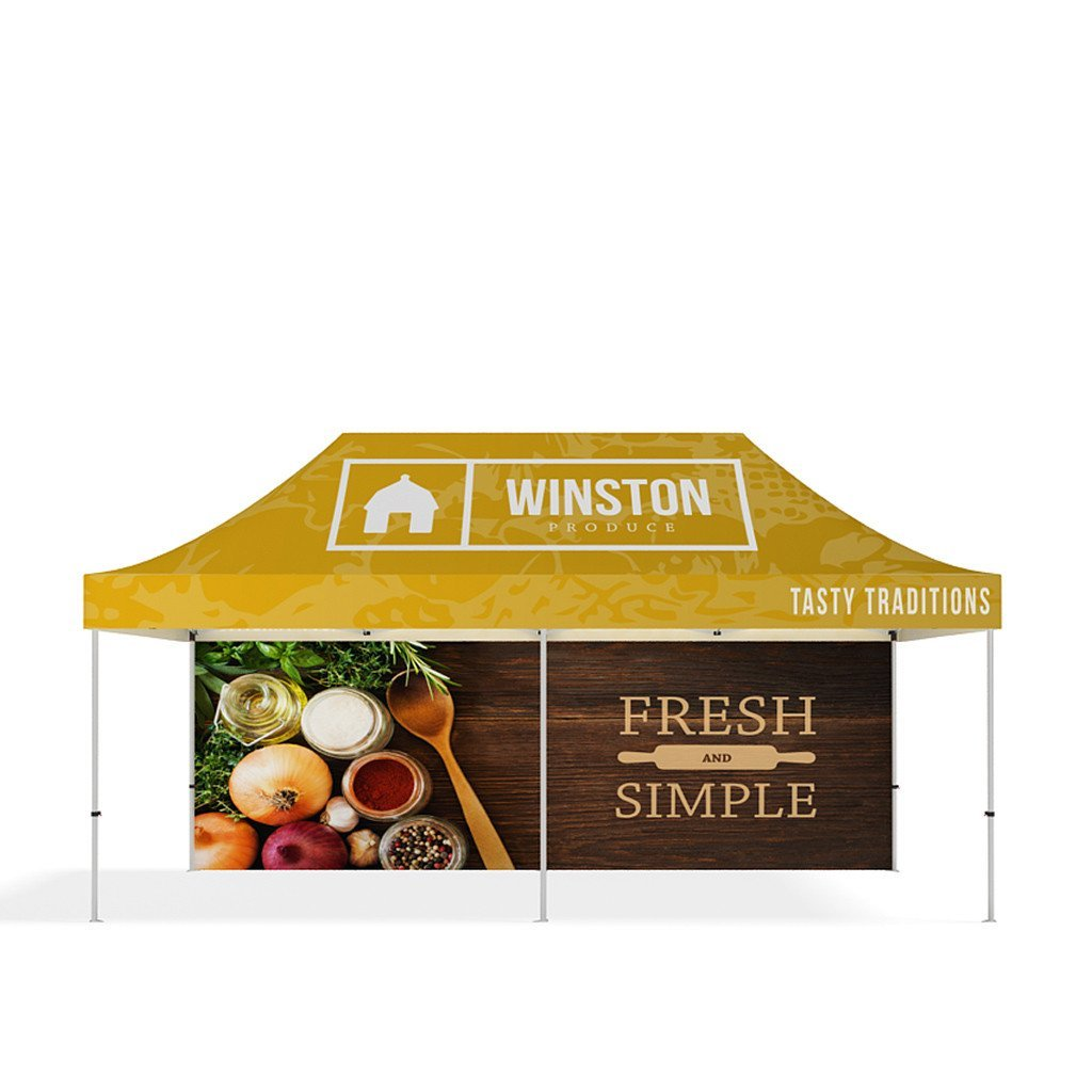 BrandStand® Outdoor Popup Canopy Tent 20ft back wall