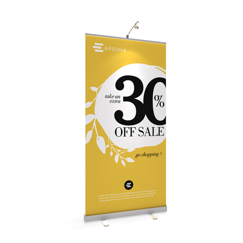 BrandStand® 1 Rollup Retractable Banner Stand Silver