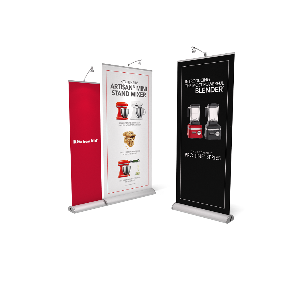 BrandStand 3.5 Rollup Retractable Banner Stand Silver Collection