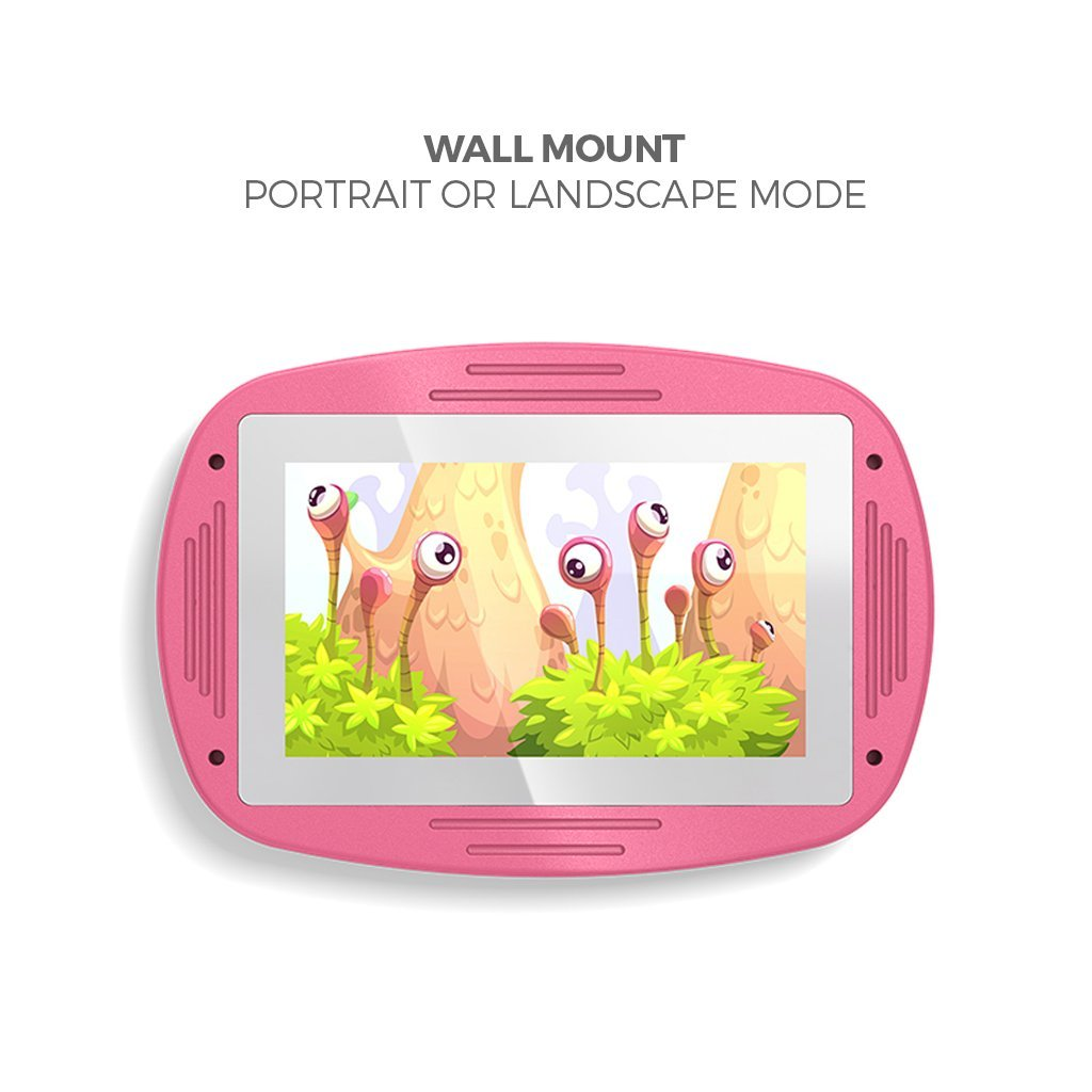 Makitso 4k Interactive Children's Touch Screen Monitor Table Pink Wall Mount