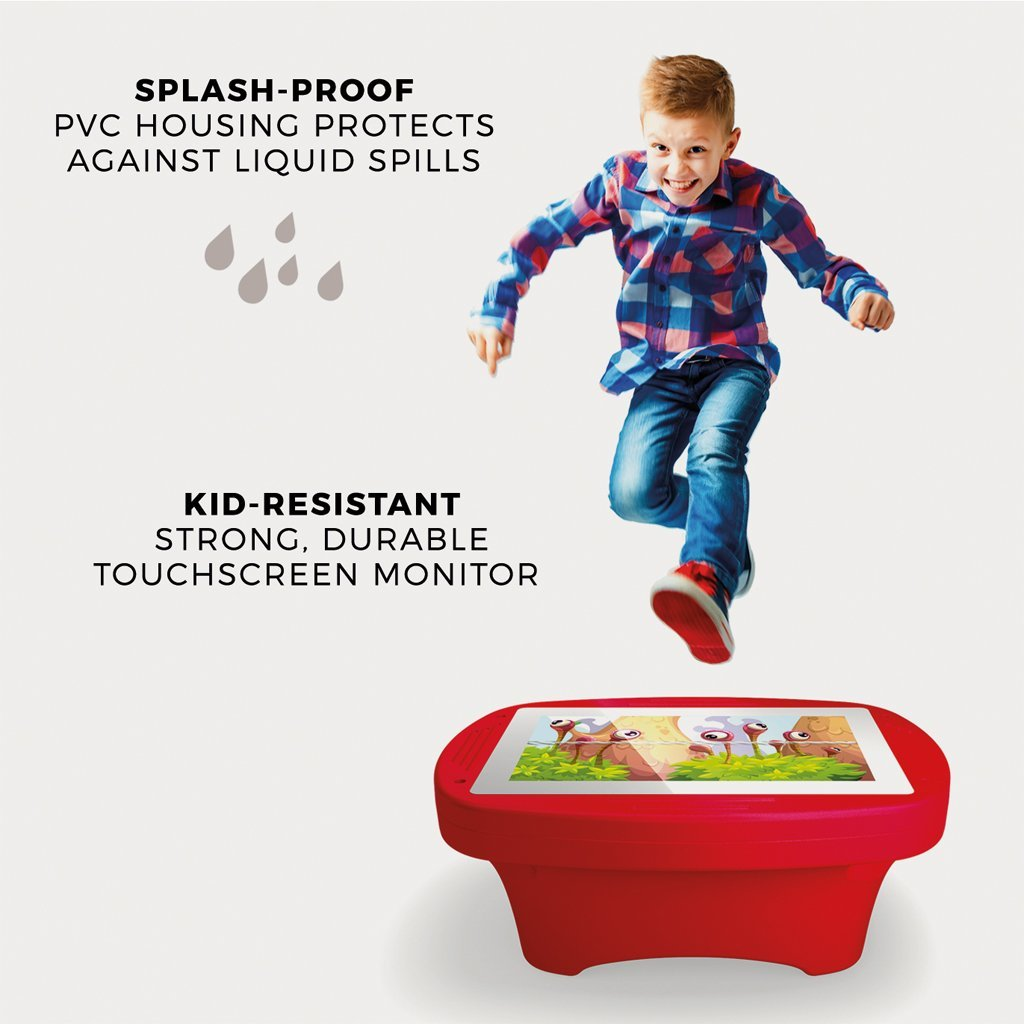 Makitso 4k Interactive Children's Touch Screen Monitor Table Red Durability