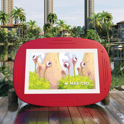 Makitso 4k Interactive Children's Touch Screen Monitor Table Red Outdoor
