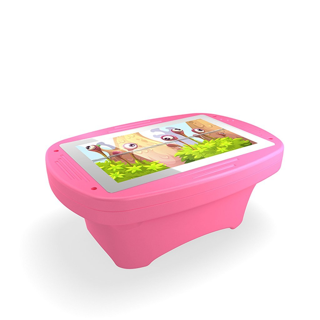 Makitso 4k Interactive Children's Touch Screen Monitor Table Pink Side View