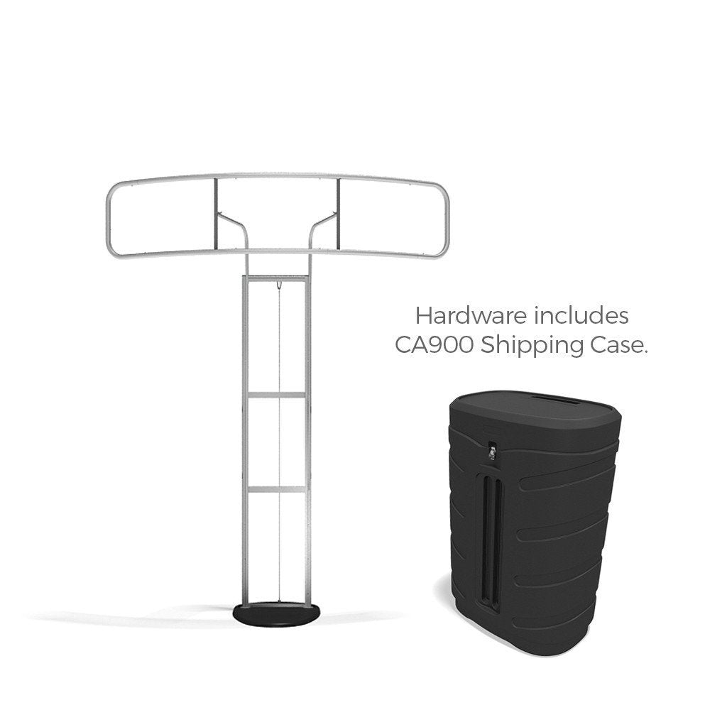 Standroid Monitor Stand for Exhibits, Trade Shows and Events frame with CA900 Case