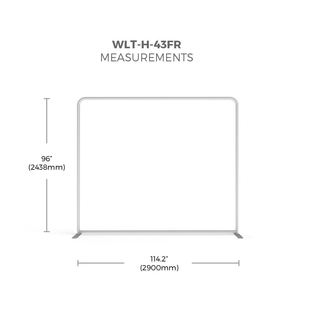 WaveLight® LED Backlit Tension Fabric Display 10ft Measurements