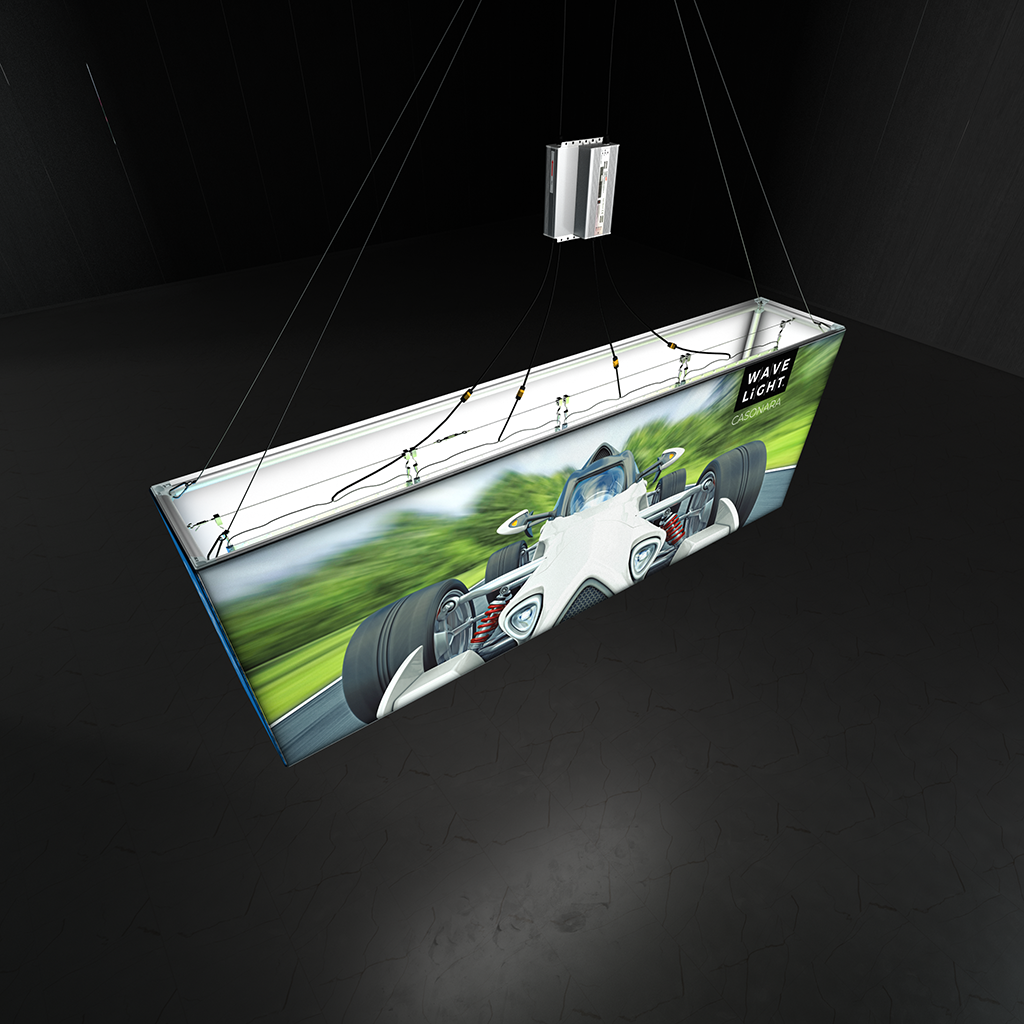 WaveLight® Casonara Blimp Rectangle 360º SEG Hanging  Light Box 300m top view
