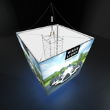 WaveLight® Casonara Blimp 360º SEG Hanging Light Box Display 240L top view