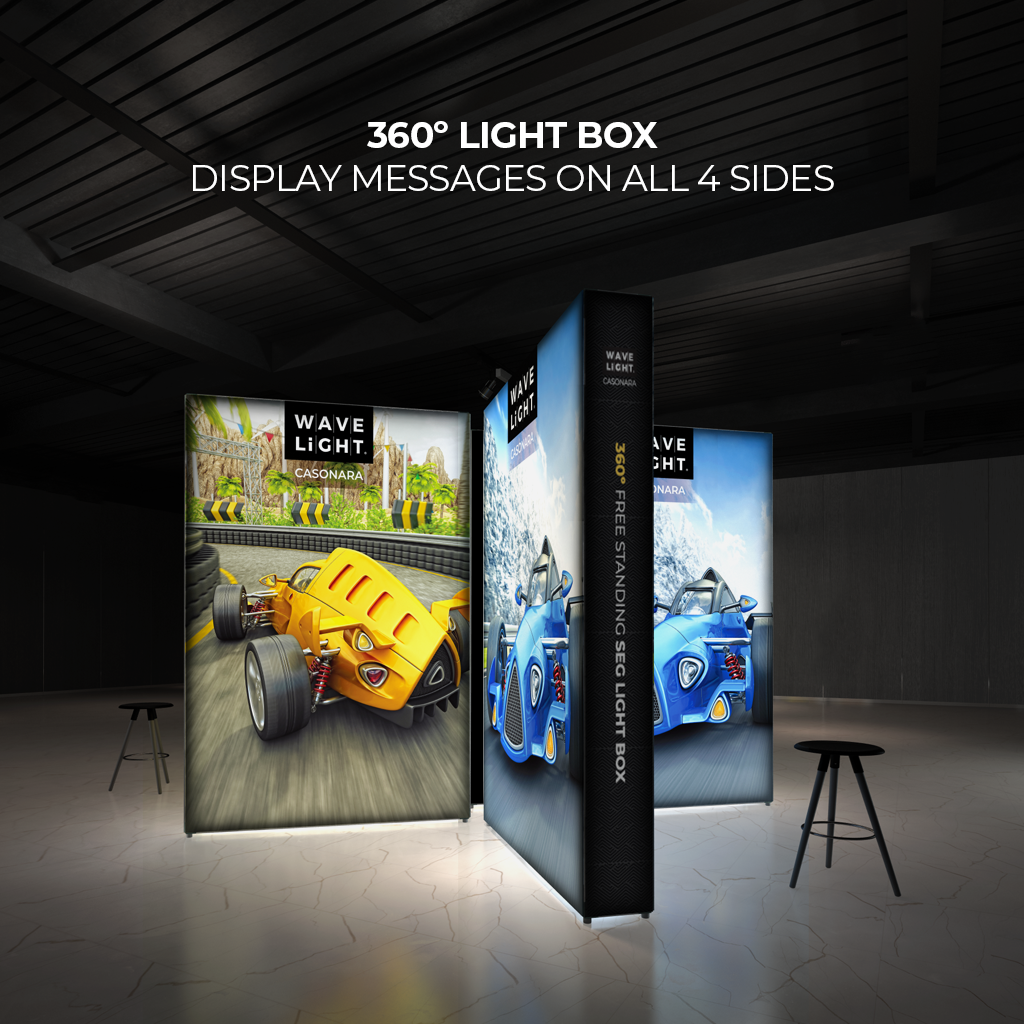4ft WaveLight Casonara SEG Light Box Displays Messages On All 4 Sides