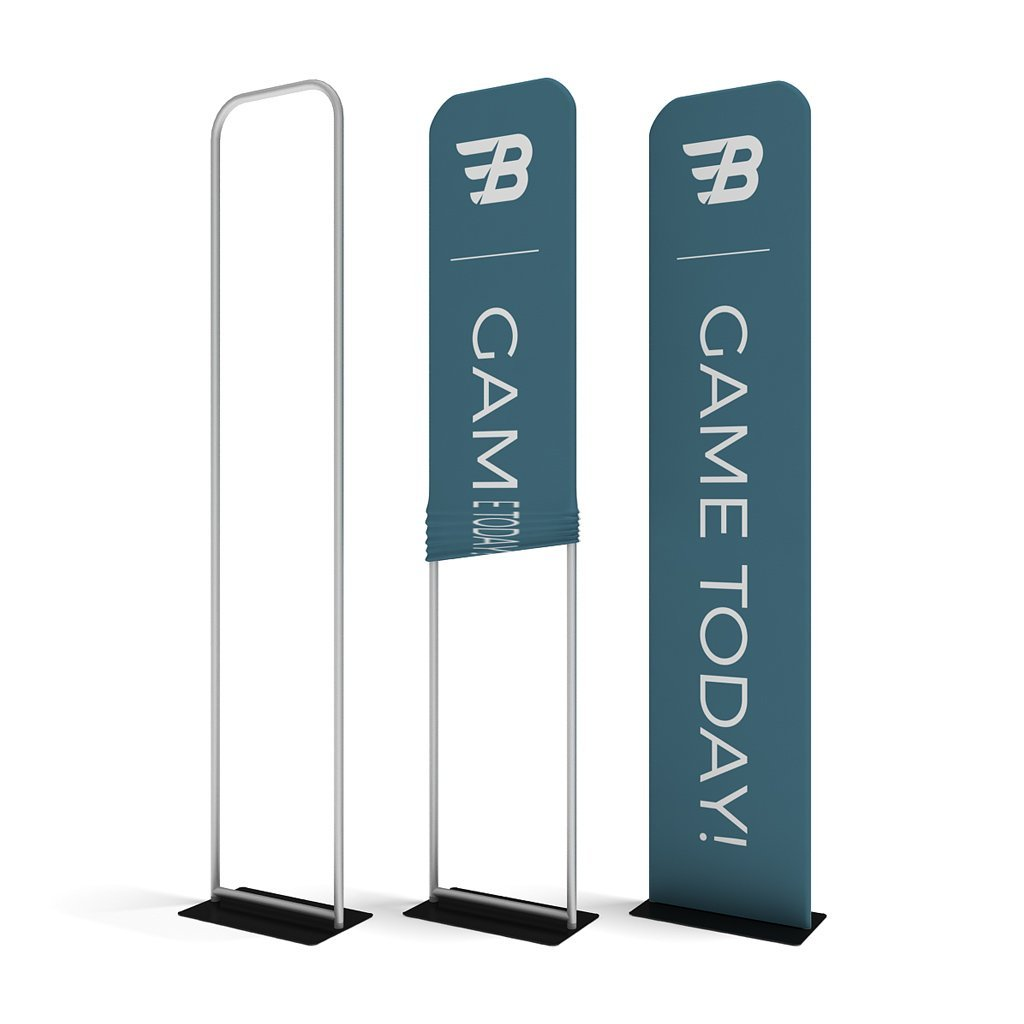 "WaveLine® Banner Stand Tension Fabric Display 24"" Assembly"