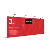 WaveLine® Media Display Wall J Modular Tension Fabric Display Wall. Event marketing trade show display wall. Angle View WaveLine® Media Display Wall Modular. WLM-2000J