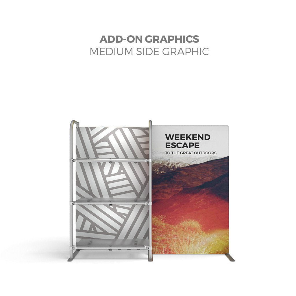 WaveLine® Merchandiser Retail Pop Up Store Display with side graphic