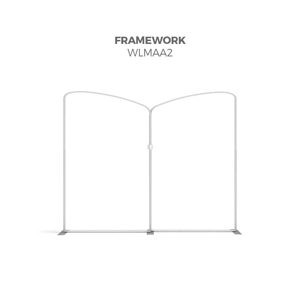 BrandStand WLMAA2 Waveline Tension Fabric Display Kit framework