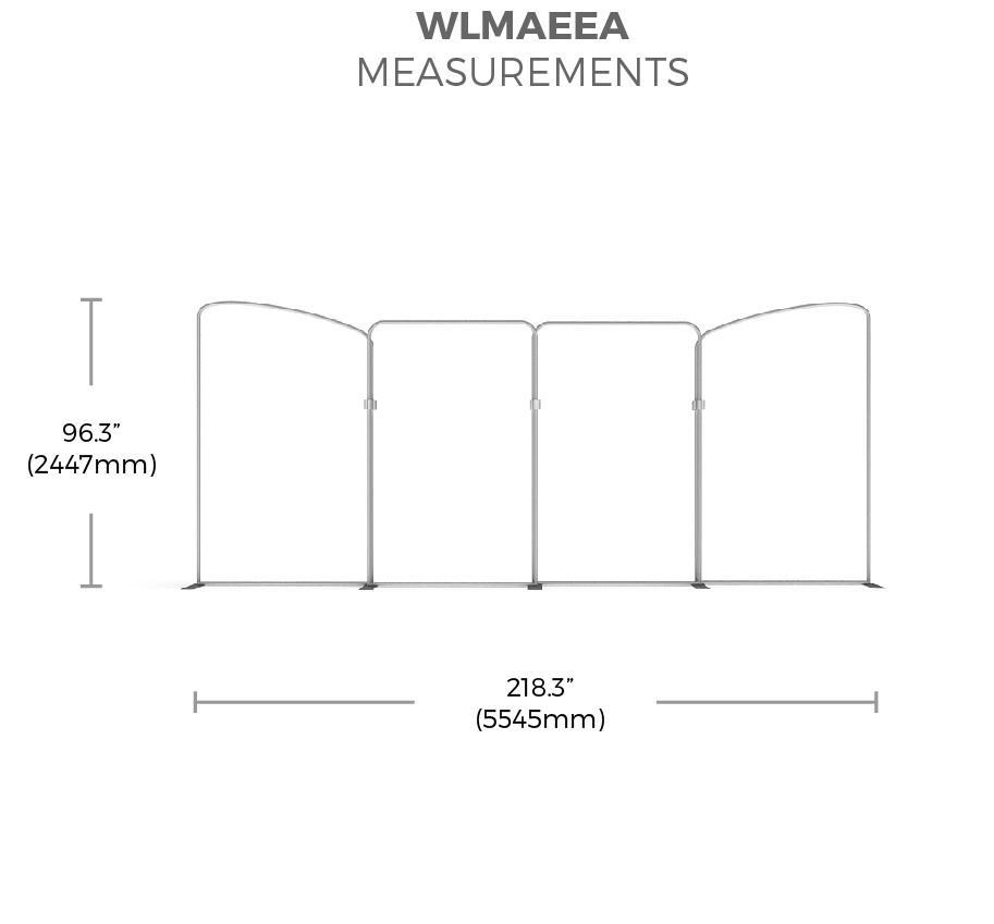 BrandStand WavelineMedia WLMAEEA Tension Fabric Display measurements