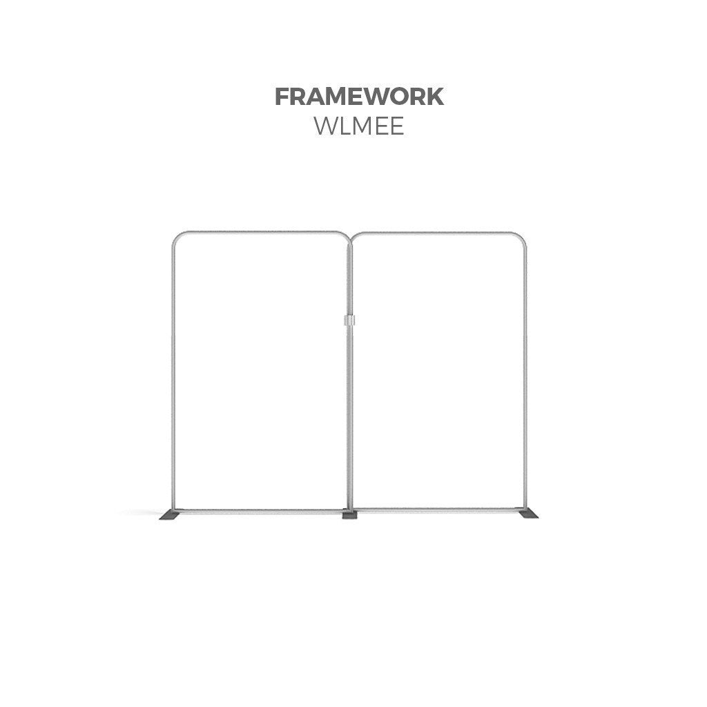 BrandStand WLMEE Waveline Tension Fabric Display Kit framework