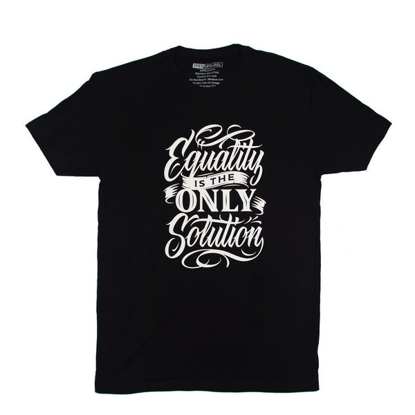 Equality-Is-The-Solution-Shirt-Black-With-White-Ink