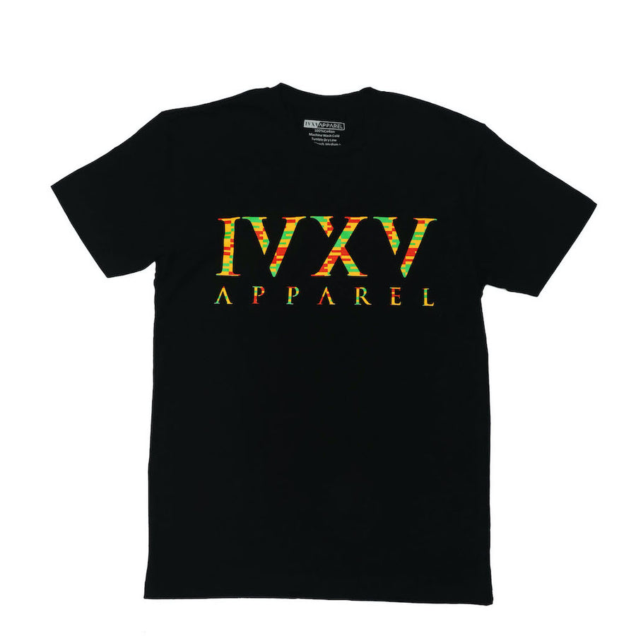IVXV-BHM-Kente-Shirt-Black-Afa