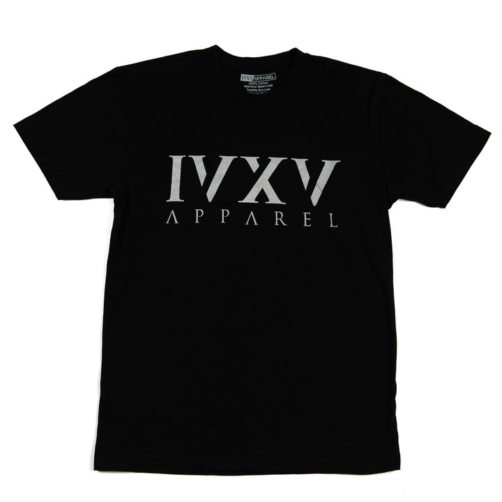 IVXV-Logo-Shirt-Black-with-Metallic-Silver