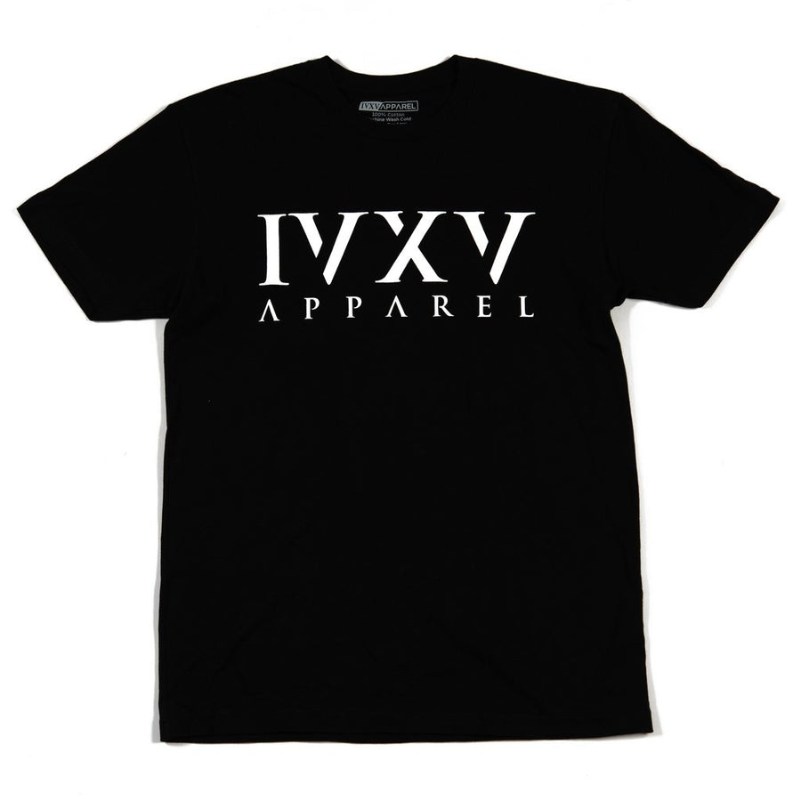 IVXV-Logo-Shirt-Black-with-White-Ink-On-Front