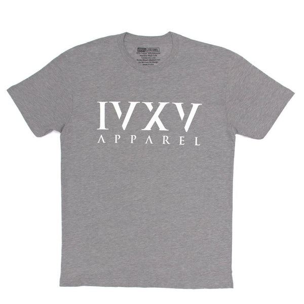 IVXV-Logo-Shirt-Heather-Gray-with-White-Ink-On-Front