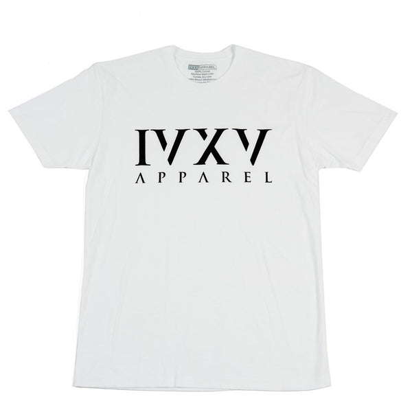 IVXV-Logo-Shirt-White-with-Black-Ink-On-Front