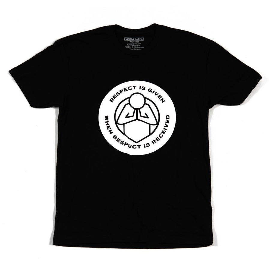 Respect-Shirt-Black-With-White-Ink-On-Front