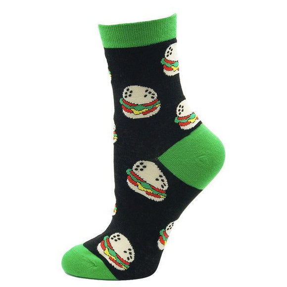 Cartoon Hamburger Socks - sock Vendor