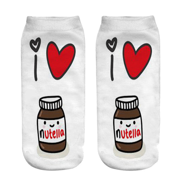 Nutella Print Ankle Socks - sock Vendor