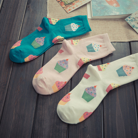 Cute Cupcake Ankle Socks - sock Vendor