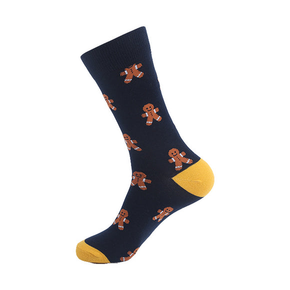 Dark Gingerbread Man Socks - sock Vendor