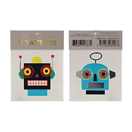Robot Tattoos Meri Meri Lemon Drop Children's Shop - Lemon Drop Children's Shop