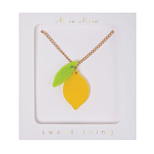 Lemon Necklace Meri Meri Lemon Drop Children's Shop - Lemon Drop Children's Shop