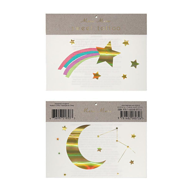 Rainbow Shooting Star Tattoos Meri Meri Lemon Drop Children's Shop - Lemon Drop Children's Shop