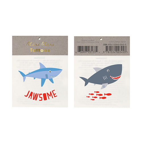 Jawsome Shark Tattoos Lemon Drop Children's Shop Lemon Drop Children's Shop - Lemon Drop Children's Shop