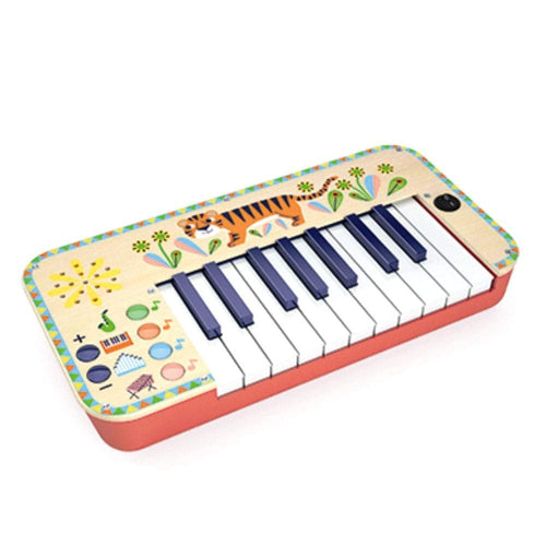 DJECO Animambo Synthesizer Musical Instrument Djeco Lemon Drop Children's Shop - Lemon Drop Children's Shop