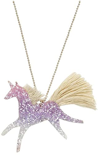 Unicorn Ombre Glitter Necklace Meri Meri Lemon Drop Children's Shop - Lemon Drop Children's Shop