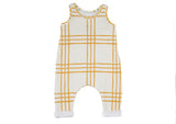 Yellow & White Jumpsuit JumpingJacksCo Lemon Drop Children's Shop - Lemon Drop Children's Shop
