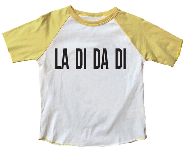 La Di Da Di I like to Party Raglan Tee Rowdy Sprout Lemon Drop Children's Shop - Lemon Drop Children's Shop