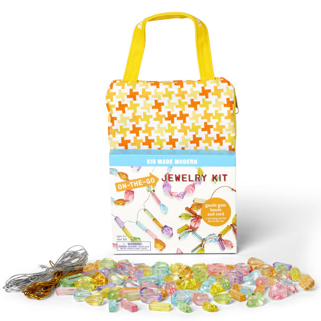 On-The-Go Jewelry Making Kit KidMadeModern Lemon Drop Children's Shop - Lemon Drop Children's Shop