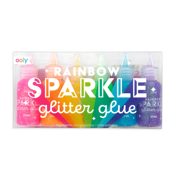 Rainbow Sparkle Glitter Glue- Set of 6