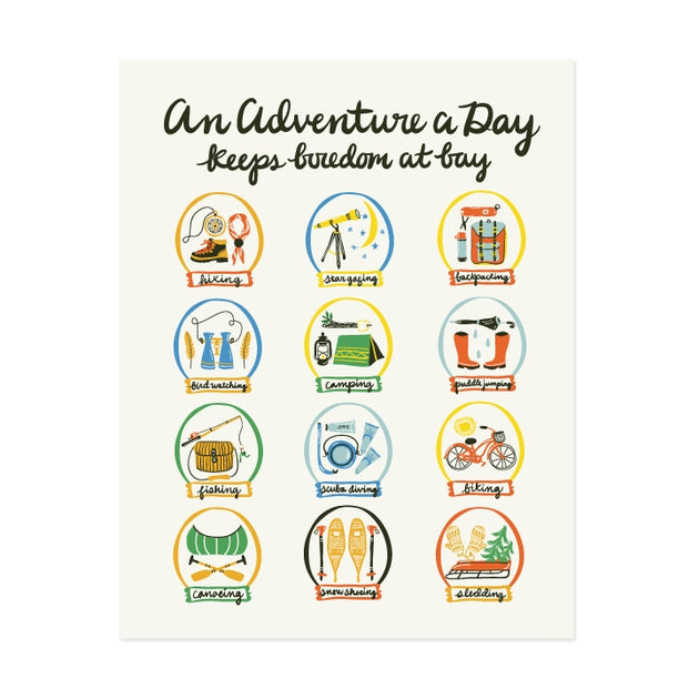 Adventure A Day Art Print- 11x14