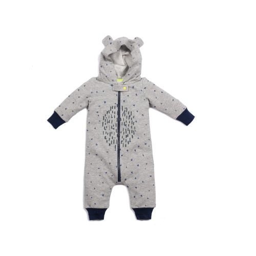 Oakley Hooded Romper with Ears! Egg Baby Lemon Drop Children's Shop - Lemon Drop Children's Shop
