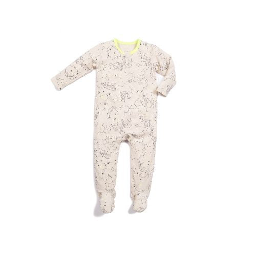 Lime Constellation Zipper Footie Egg Baby Lemon Drop Children's Shop - Lemon Drop Children's Shop
