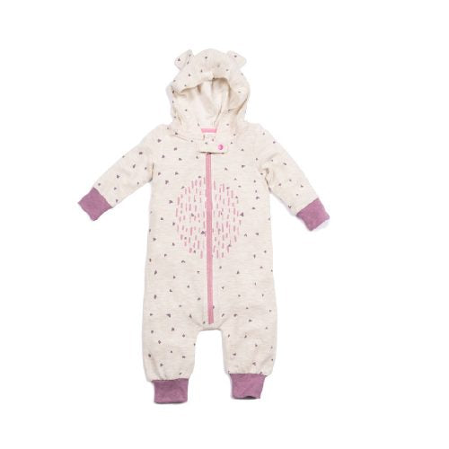 Oakley Mauve Hooded Onesie with Ears! Egg Baby Lemon Drop Children's Shop - Lemon Drop Children's Shop